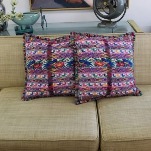 Guatemalan textile cushion cases