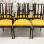 brasilia yellow dining chairs